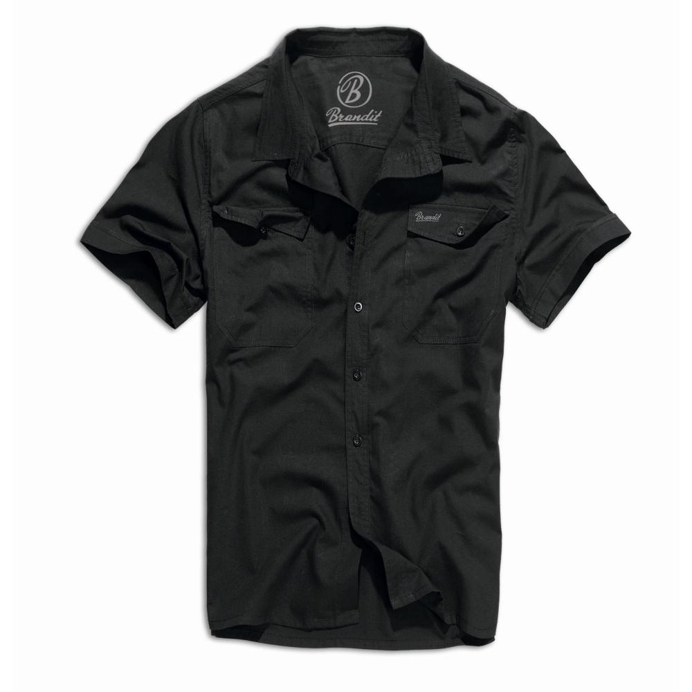 5b56312f2f2 Košile Brandit Roadstar krátký rukáv, černá, 3XL   Army shop Armed.cz
