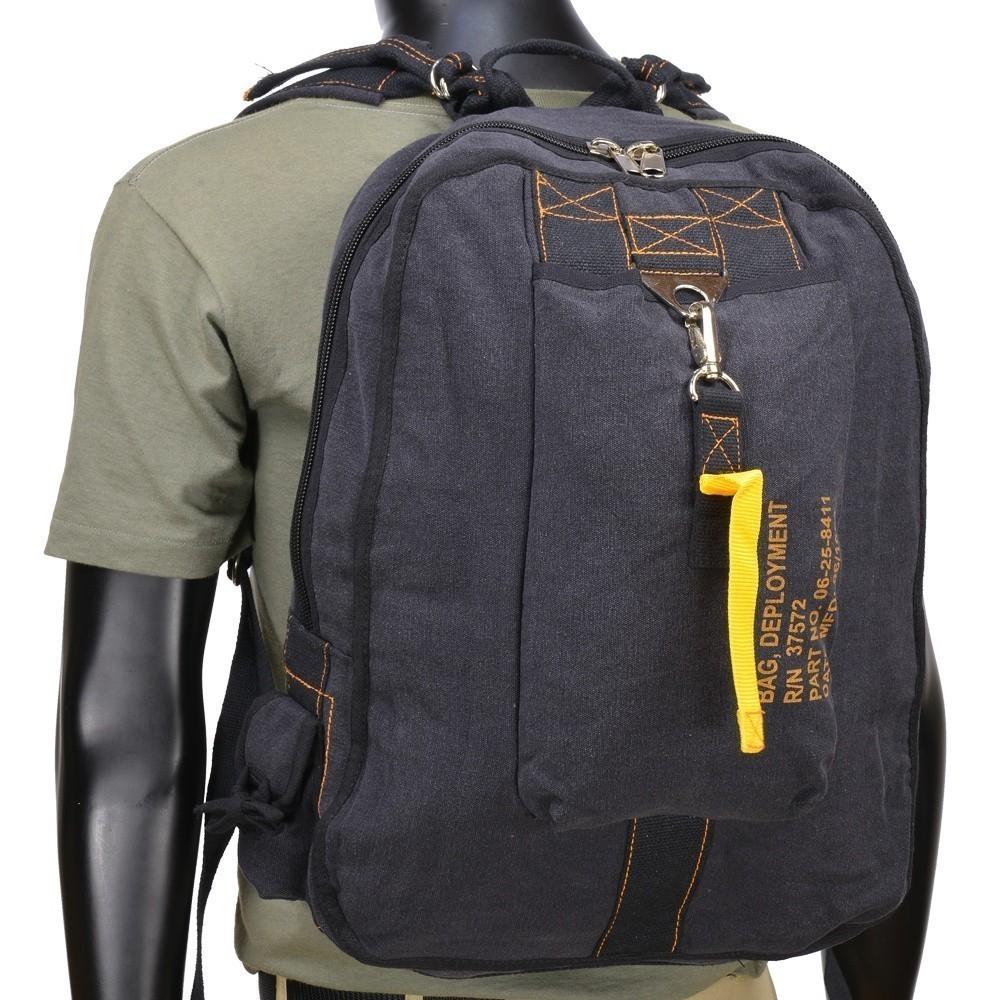 d421f1ba7 Plátěný batoh Rothco Flight Bag, černý | Army shop Armed.cz