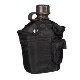 Polní láhev US s obalem, černá, 1 L, Mil-Tec