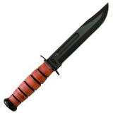 Vojenský nůž Ka-Bar USMC, hladké ostří, kožené pouzdro