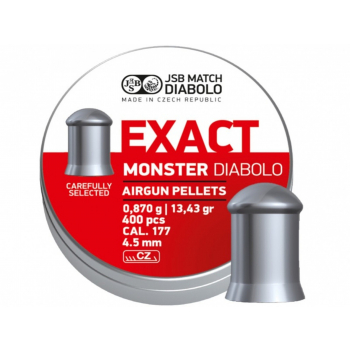 Diabolo JSB Exact Monster 4,52 mm (.177), 400 ks