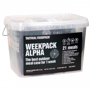 Set 21x Survival MRE dehydrovaného jídla - Weekpack Alpha, Tactical Foodpack