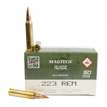 Náboje .223 Rem FMJ (223A) 3,56g 55grs, 50 ks