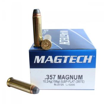 Náboje .357 Magnum SJSP (357E) 10,24 g 158 grs, 50 ks, Magtech