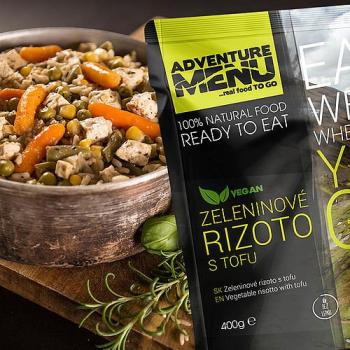 Zeleninové rizoto s tofu, vegan, Adventure Menu