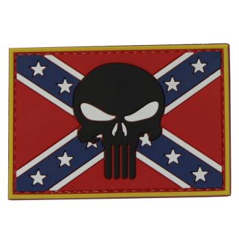 PVC nášivka - Punisher na konfederační vlajce