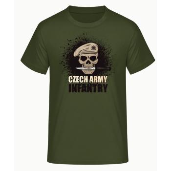 Pánské triko Czech Army Infantry, zelené, Forces Design