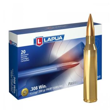 Náboje Lapua 308 Win Subsonic, FMJBT B416 13g/200grs, 20 ks