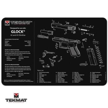 Podložka TekMat s motivem Glock 42 a 43