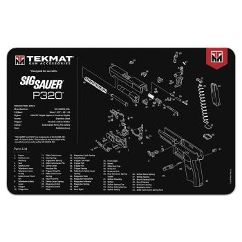 Podložka na čištění zbraně s motivem Sig Sauer P320, Tekmat