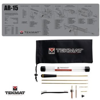TekMat Combo podložka AR15 šedá + sada čištění AR15