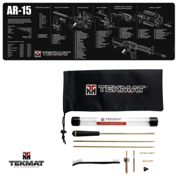 TekMat Combo podložka AR15 černá + sada čištění AR15