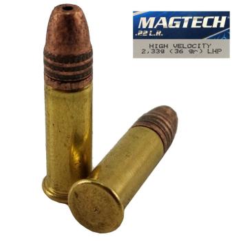 Náboje Magtech .22 LR LHP HVCP (22C) HV-High Velocity 2,33 g, 36 gr, 50 ks