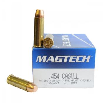Náboje .454 Casull FMJ FLAT (454B), 16,85 g, 260 gr, 20 ks, Magtech