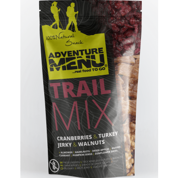 Trail Mix - brusinka, krůtí jerky, vlašské ořechy, 100 g, Adventure Menu