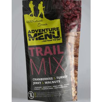 Trail Mix - brusinka, krůtí jerky, vlašské ořechy, 50 g, Adventure Menu