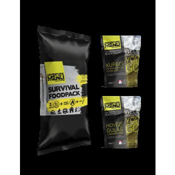 Survival Food Pack I - hovězí guláš + kuře po zahradnicku, Adventure Menu