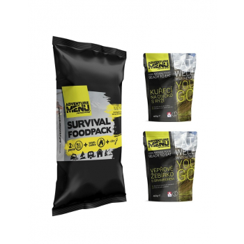 Survival Food Pack III - vepřové žebírko + kuře na divoko, Adventure Menu