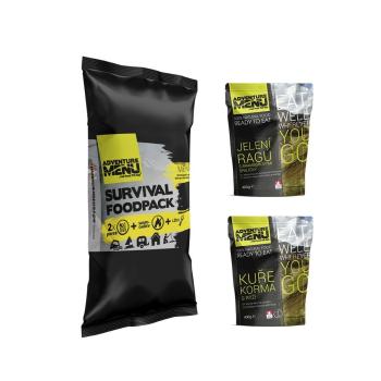 Survival Food Pack IV - jelení ragů + kuře Korma, Adventure Menu