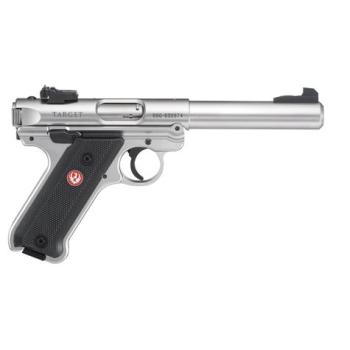 Samonabíjecí pistole Ruger MKIV Stainless, .22 LR