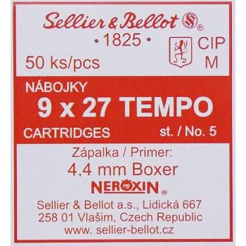 Jateční náboje S&B 9/27 TEMPO, 50 ks