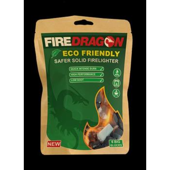 Ekologický pevný podpalovač FireDragon, 6 ks, BCB