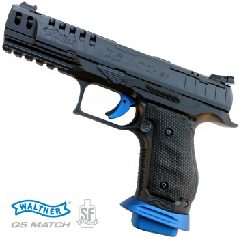 """Pistole Walther Q5 Match Steel Frame Champion 5"""" 9 mm Luger"""