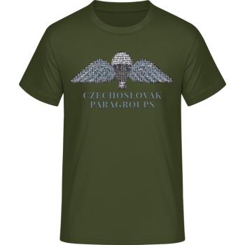 Pánské triko Parawings, zelené, Forces Design