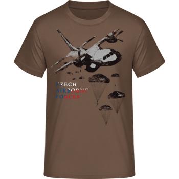 Pánské triko Airborne II., hnědé, Forces Design