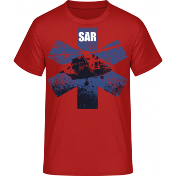 Pánské triko SAR, červené, Forces Design