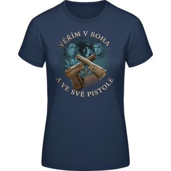 Dámské triko Tři králové, tmavě modré, Forces Design