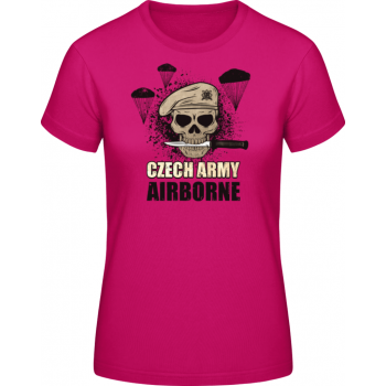 Dámské triko Airborne, tmavě růžové, Forces Design