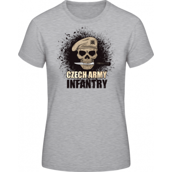 Dámské triko Infantry, šedé, Forces Design