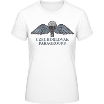 Dámské triko Paragroups, bílé, Forces Design