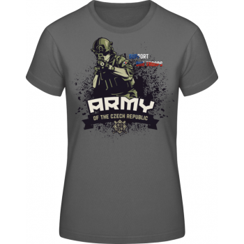 Dámské triko Support Our Troops, šedá, Forces Design