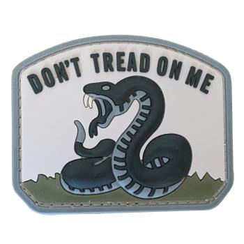 PVC nášivka - Don't Tread on Me, šedá