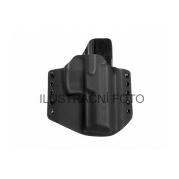 Kydex pouzdro, vnější (OWB), Q5 Match Steel Frame, pravé, pol. swtg, provlékací oka 40 mm, černé, RH Holsters
