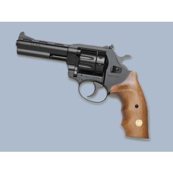"""Revolver Alfa model 641 4"""", 6mm Flobert, niklovaný, stavitelné hledí, dřevěné střenky"""