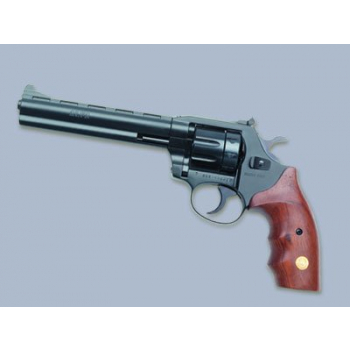 """Revolver Alfa model 661 6"""", 6mm Flobert, niklovaný, stavitelné hledí, dřevěné střenky"""