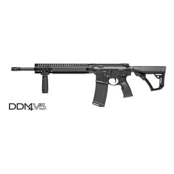 """Samonabíjecí puška Daniel Defense M4 V5S, 14,5"""", ráže .223 Rem, raily, bez mířidel, černá"""