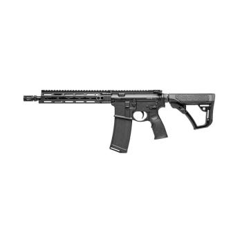 """Samonabíjecí puška Daniel Defense M4 V7 S, 11,5"""", ráže .223 Rem, černé tělo i přepažbí"""