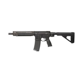 """Samonabíjecí puška Daniel Defense M4 MK18 P LawTac, 10,3"""", ráže .223 Rem, černé tělo a FDE přepažbí"""