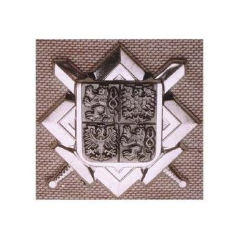 Odznak AČR - znak + meče, stříbrný