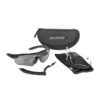 Balistické brýle Crossbow, černé, čirá + tmavá skla, ESS