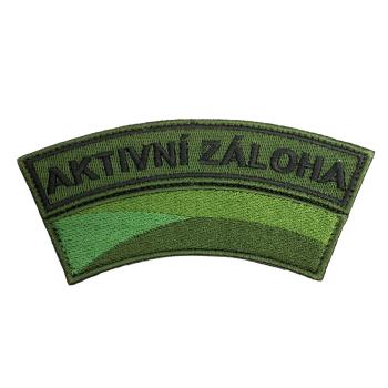 Nášivka Aktivní záloha s vlajkou, zelený podklad