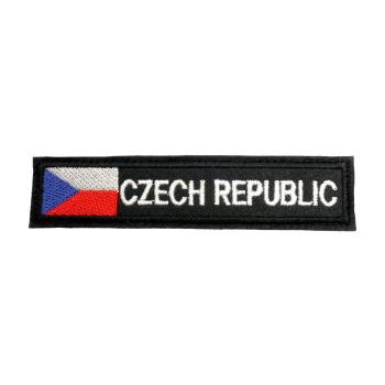 Nášivka Czech republic s vlajkou, černý podklad