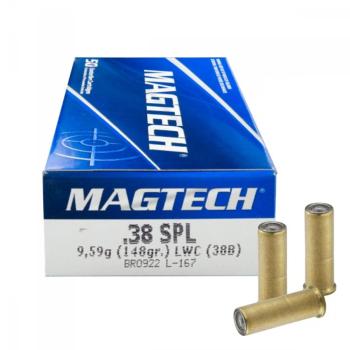 Náboje .38 SPECIAL LWC (38B), 9,59 g, 148 gr, 50 ks, Magtech