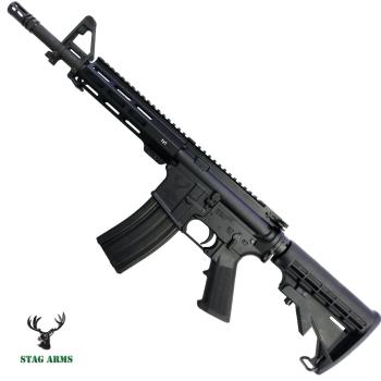 """Samonabíjecí puška AR15 Stag Arms model LEO M-LOK, ráže .223 Rem, 11"""" hlaveň"""