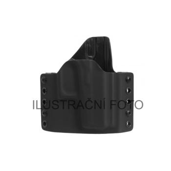 Kydexové pouzdro, vnější (OWB), CZ P10 S, pravé, bez swtg, provlékací oka 40 mm, černé, RH Holsters