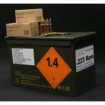 Náboje .223 REM - FMJ, 55 grn, NATO Ammo box, 1000 ks, GGG